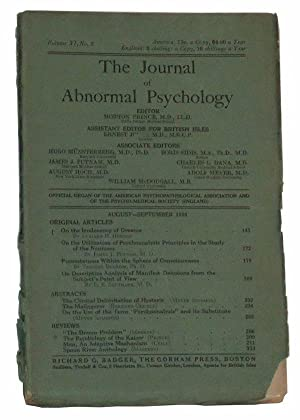 The Journal of Abnormal Psychology, Volume XI, No. 3 (August-September 1916)