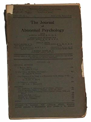 The Journal of Abnormal Psychology, Volume XV,: Prince, Morton (ed.);