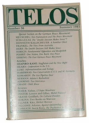 Telos, Number 56 (Summer 1983): A Quarterly Journal of Radical Thought
