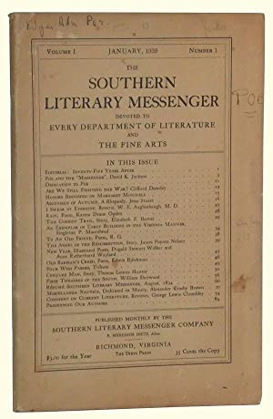The Southern Literary Messenger, Volume I, Number 1 (January, 1939)