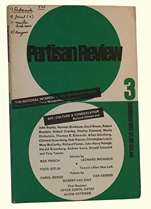The Partisan Review, Volume XXXIX, Number 3 (Summer, 1972)