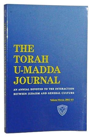The Torah U-Madda Journal, Volume Eleven (2002-2003): Schachter, Jacob J.