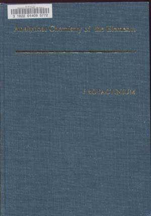 Analytical Chemistry of Protactinium; Analytical Chemistry of: Pal'shin, E. S.