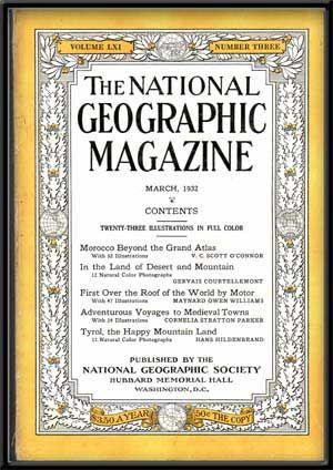 The National Geographic Magazine, Volume LXII, Number Three (March, 1932)