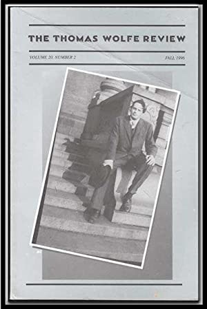 The Thomas Wolfe Review, Vol. 20, Number: Roberts, Terry (Ed.
