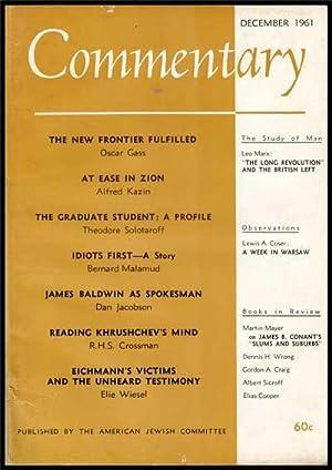 Commentary: Vol. 32, No. 6 (December 1961): Podhoretz, Norman (Ed.