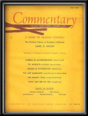 Commentary: Vol. 43, No. 5 (May 1967): Podhoretz, Norman (Ed.