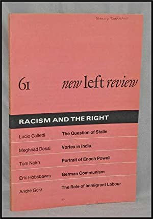 New Left Review, 61 (May-June 1970) : Racism and the Right