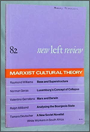 New Left Review, 82 (November-December 1973) : Marxist Cultural Theory