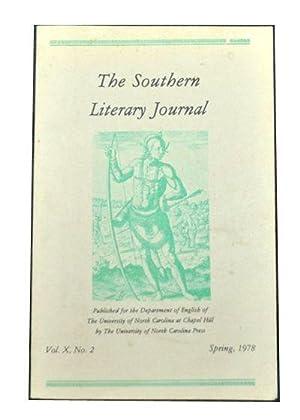The Southern Literary Journal, Vol. X, No.: Rubin, Louis D.