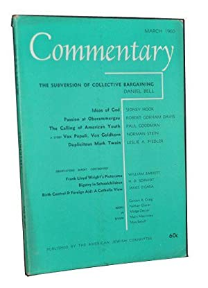 Commentary: Vol. 29, No. 3 (March 1960)