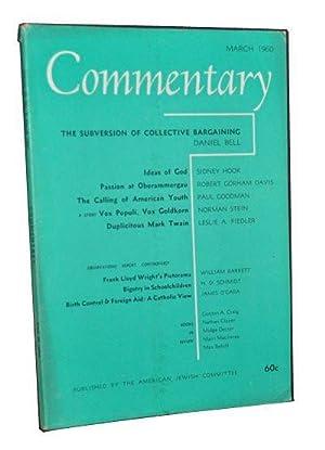 Commentary: Vol. 29, No. 3 (March 1960): Podhoretz, Norman (Ed.);