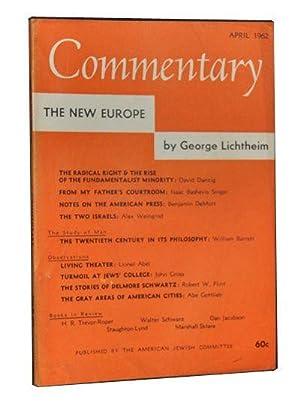 Commentary: Vol. 33, No. 4 (April 1962): Podhoretz, Norman (Ed.);