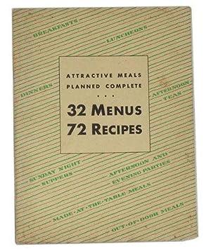 Attractive Meals Planned Complete: 32 Menus, 72: Batchelder, Ann