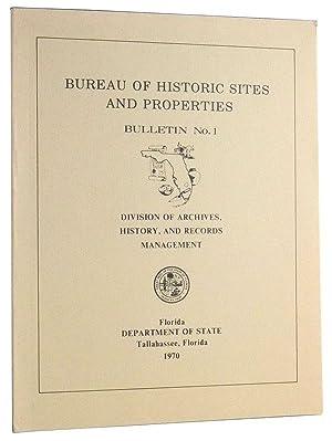 Bureau of Historic Sites and Properties, Bulletin: Clausen, Carl J.;