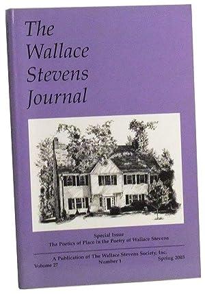 The Wallace Stevens Journal, Volume 27, Number: Serio, John N.