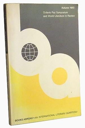Books Abroad: An International Literary Quarterly. Volume: Lewis, Tom J.;
