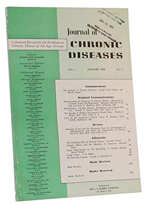 Journal of Chronic Diseases, Vol. 1, No.: Moore, Joseph Earle