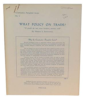 What Policy on Trade?