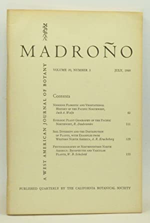 Madroño: A West American Journal of Botany. Volume 20, Number 3 (July 1969)