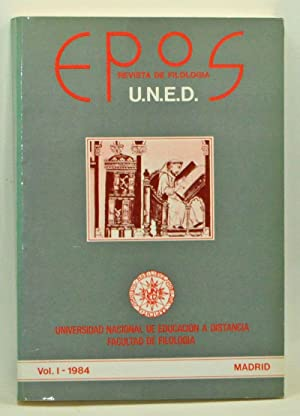 EPOS: Revista de Filología. Volume I (1984): Pérez Priego, Miguel