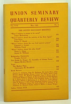 Union Seminary Quarterly Review, Volume 17, Number: McPhail, David P.