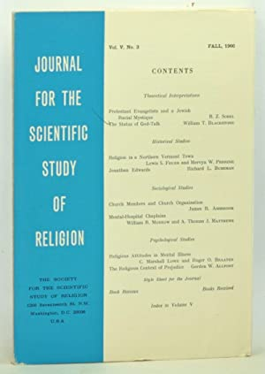 Journal for the Scientific Study of Religion,: Klausner, Samuel Z.
