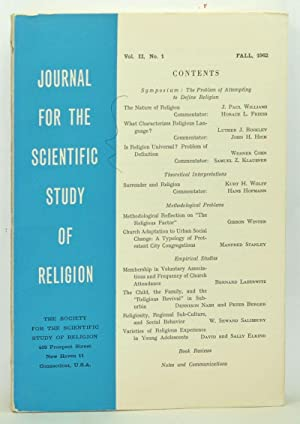 Journal for the Scientific Study of Religion,: Pemberton, Prentiss L.