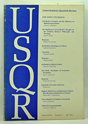 Union Seminary Quarterly Review, Volume 28, Number: Sturm, Richard E.