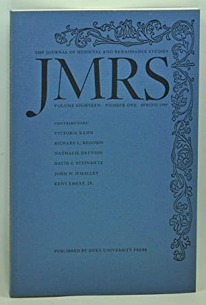 JMRS: The Journal of Medieval and Renaissance: Patterson, Annabel (ed.);