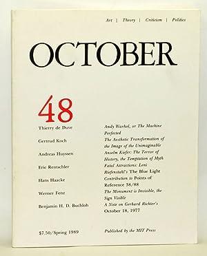 October 48: Art, Theory, Criticism, Politics (Spring: Copjec, Joan (Ed.);