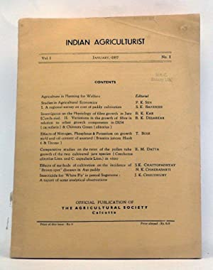 Indian Agriculturist, Volume 1, Number 1 (January: Sen, P. K.;