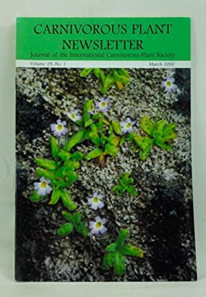 Carnivorous Plant Newsletter: Official Journal of the International Carnivorous Plant Society, Vo...