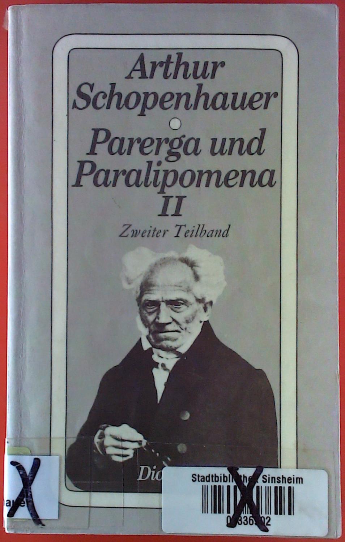 parerga and paralipomena short philosophical essays volume one