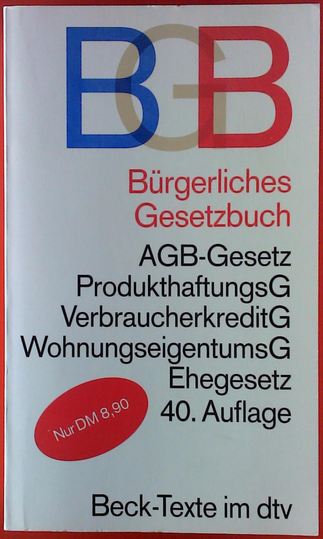 buergerliches gesetzbuch von koehler zvab. Black Bedroom Furniture Sets. Home Design Ideas