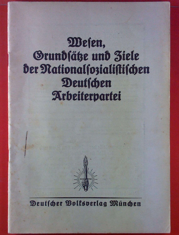 Wesen, Grundsätze und Ziele der Nationalsozialistischen Deutschen: Alfred, Rosenberg