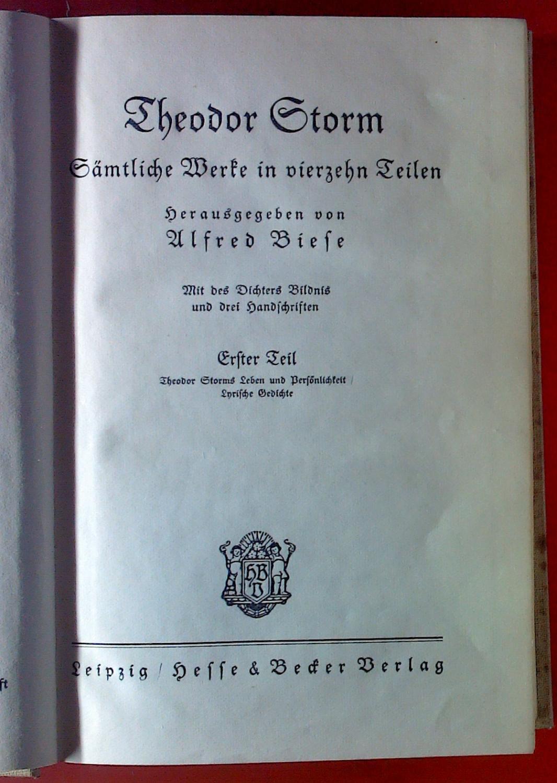 Plattdeutsche gedichte theodor storm