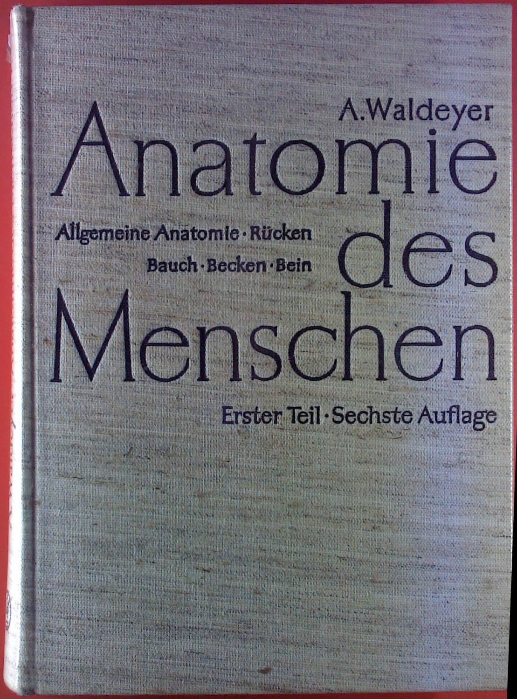 Anatomie des Menschen. Allgemeine Anatomie - Rücken - Bauch - Becken ...
