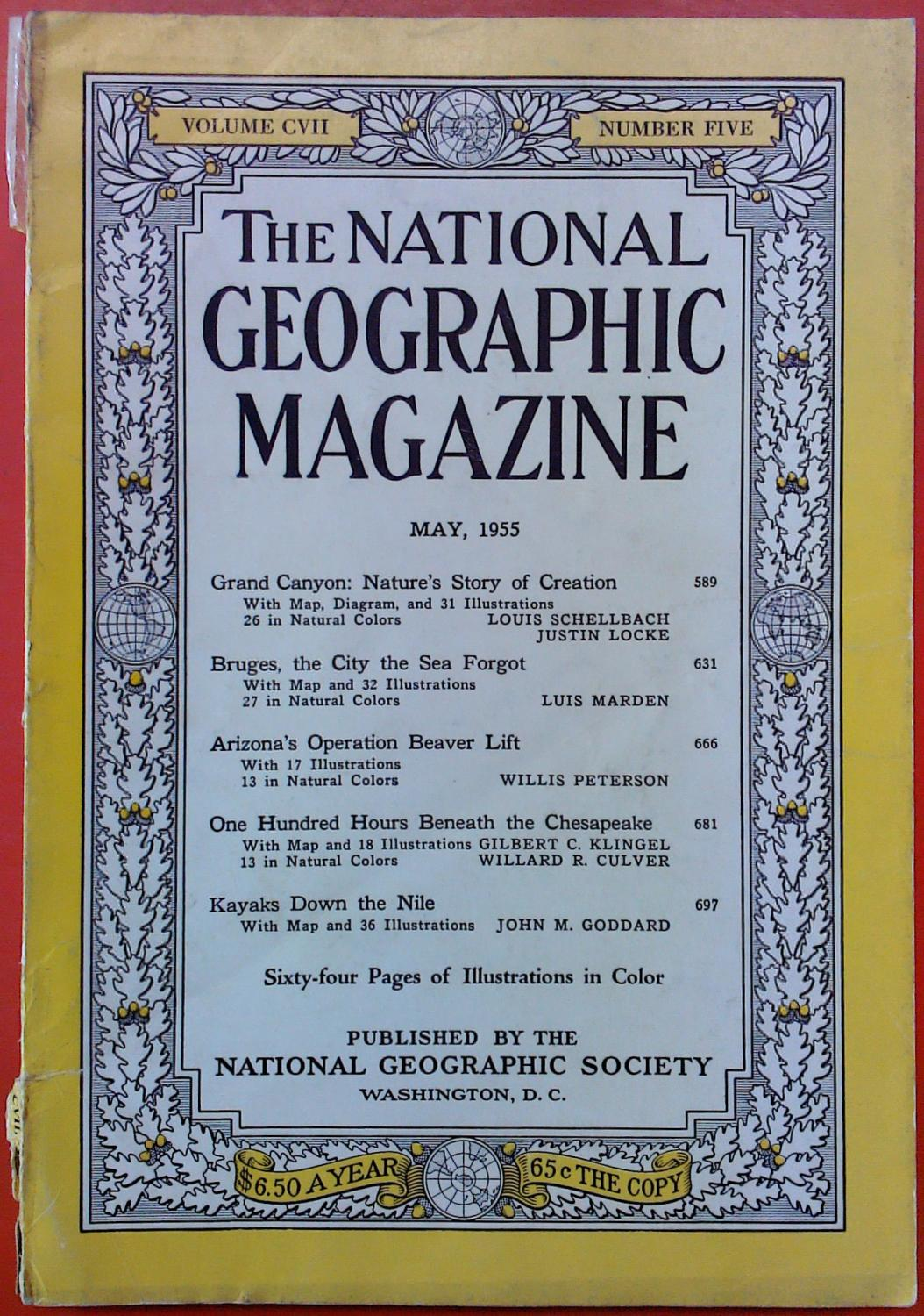 The National Geographic Magazine May, 1955. Volume: National Geographic Society