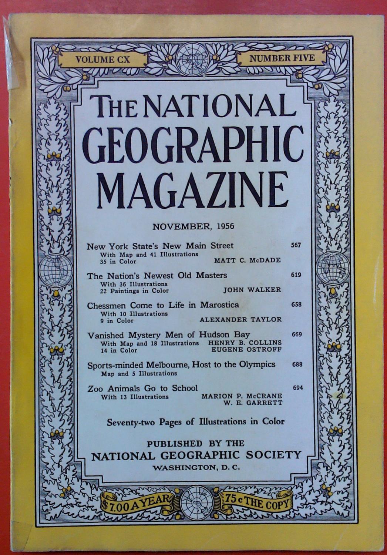 The National Geographic Magazine November, 1956. Volume: National Geographic Society