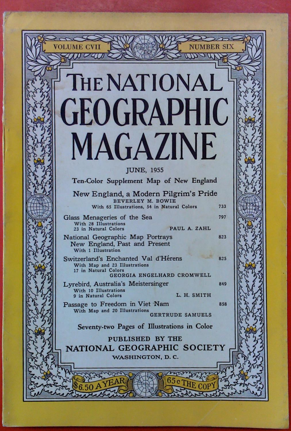 The National Geographic Magazine June, 1955. Volume: National Geographic Society