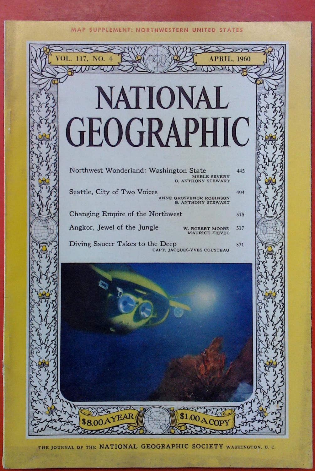 The National Geographic Magazine April, 1960. Volume: National Geographic Society