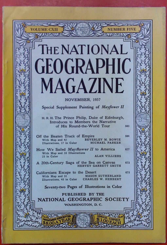 The National Geographic Magazine November, 1957. Volume: National Geographic Society