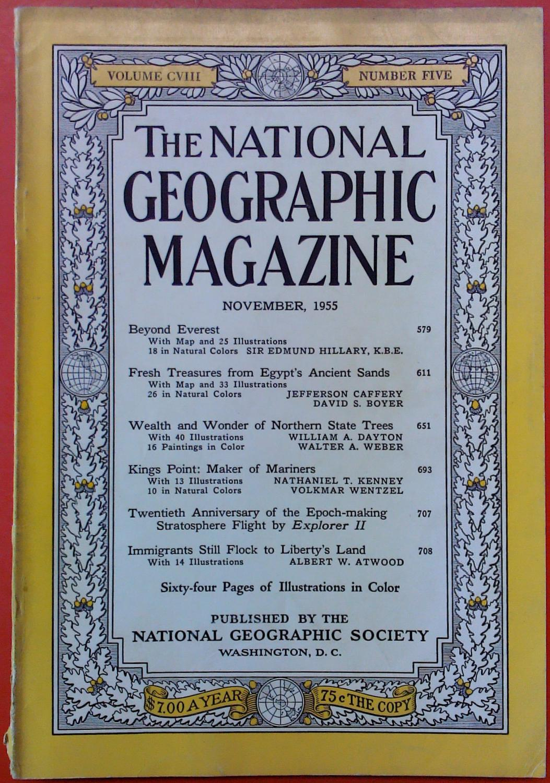The National Geographic Magazine November, 1955. Volume: National Geographic Society