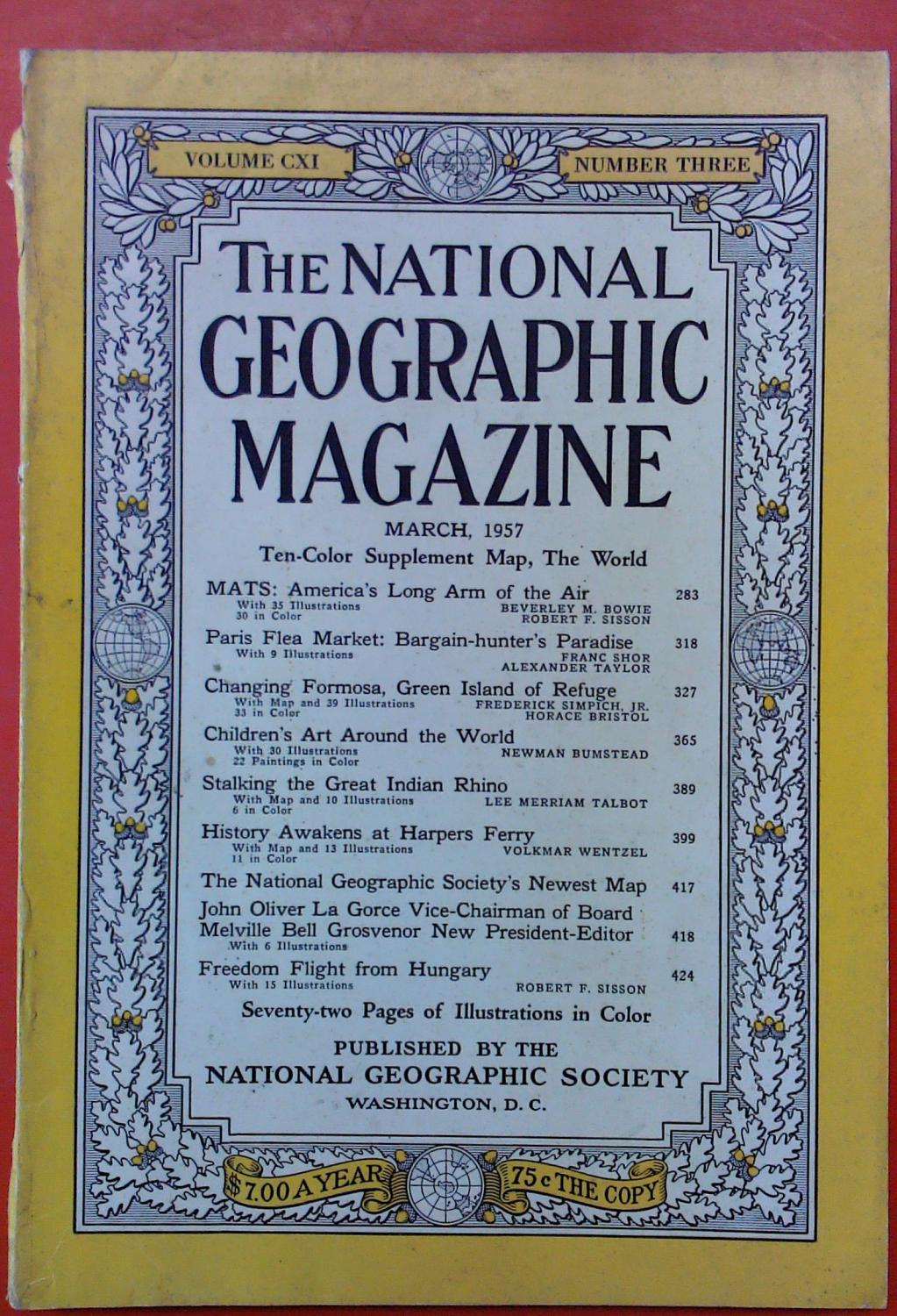 The National Geographic Magazine March, 1957. Volume: National Geographic Society