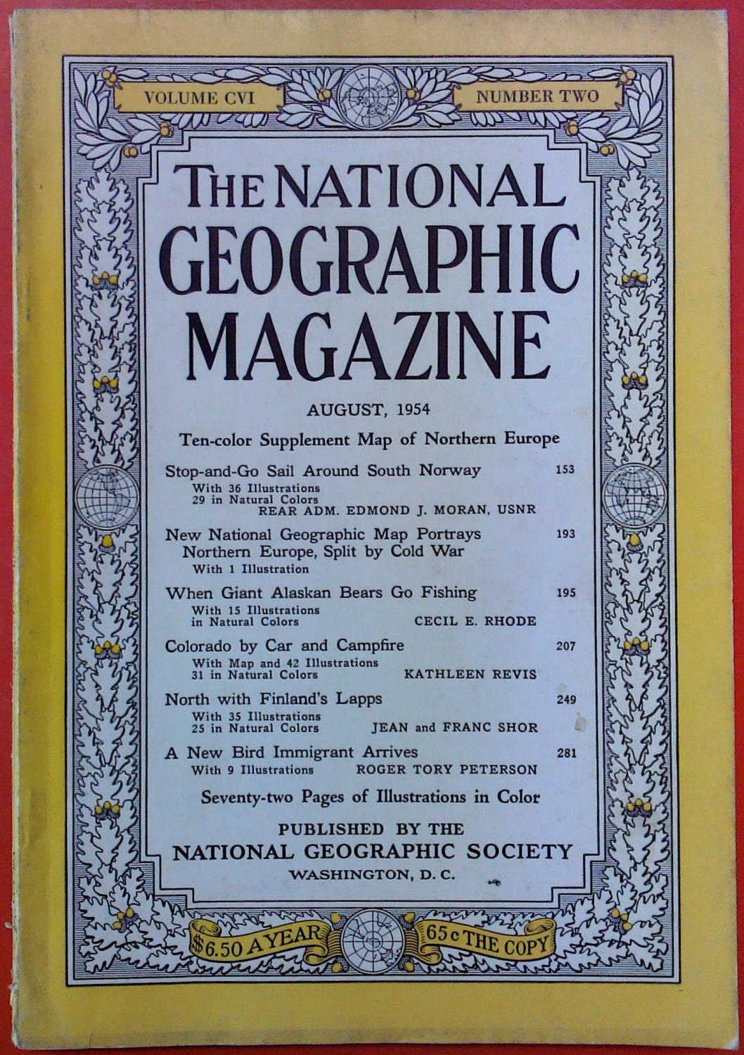The National Geographic Magazine August, 1954. Volume: National Geographic Society