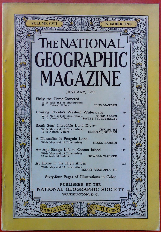 The National Geographic Magazine January, 1955. Volume: National Geographic Society