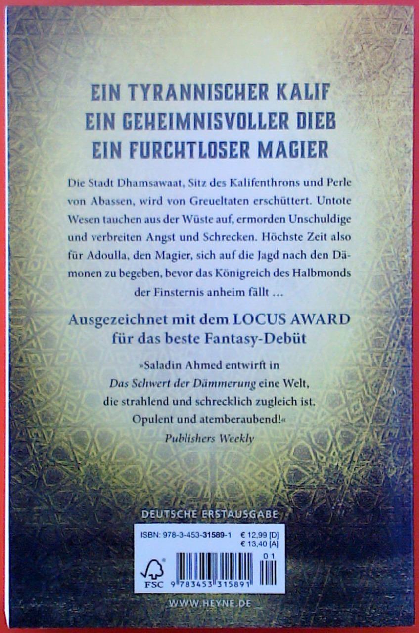 Das Schwert der Dämmerung. Deutsche Erstausgabe.: Saladin Ahmed