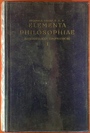 Logica / Philosophia Naturalis (Elementa philosophiae Aristotelico-Thomisticae,: Iosepho / Joseph