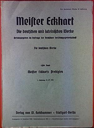 Meister Eckhart. Die deutsche und lateinischen Werke.: Josef Quint